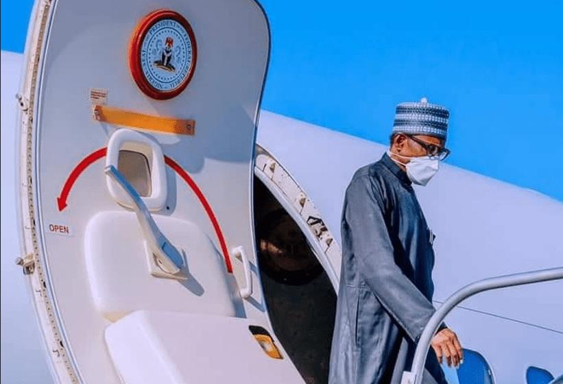 President Muhammadu Buhari has arrived Riyadh, Saudi Arabia, for the Future Investment Initiative Institute conference